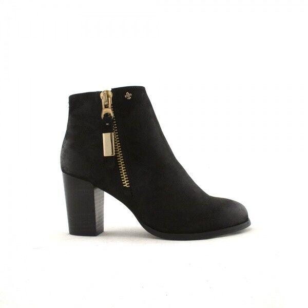 Amy Huberman-Boom ciudad negro Tacón Alto Tobillo botas, botas, botas, Negro UK 7 EU 40 JS46 94  almacén al por mayor