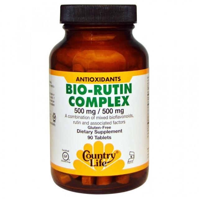 Country Life, Bio-Rutin Complex, 500 Mg 500 Mg, 90 Tablets