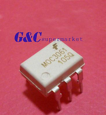 2PCS IC MOC3061 DIP-6 Zero-Cross  Optoisolators Triac Drive  NEW GOOD QUALITY