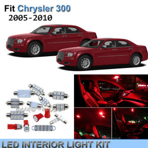 Image Is Loading 12x Premium Red Led Interior Lights Kit For