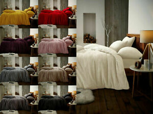 Luxury-Teddy-Fleece-Warm-Duvet-Cover-Set-With-Pillow-Cases-Single-Double-King