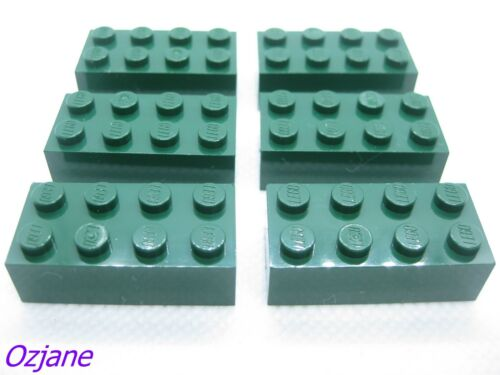 LEGO New Lot of 4 Dark Green 2x8 Plate Pieces