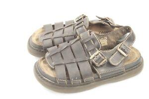 Men-039-s-Brown-Leather-Open-Toe-Fishermen-Sandal-Size-10-Utility-Adjustable