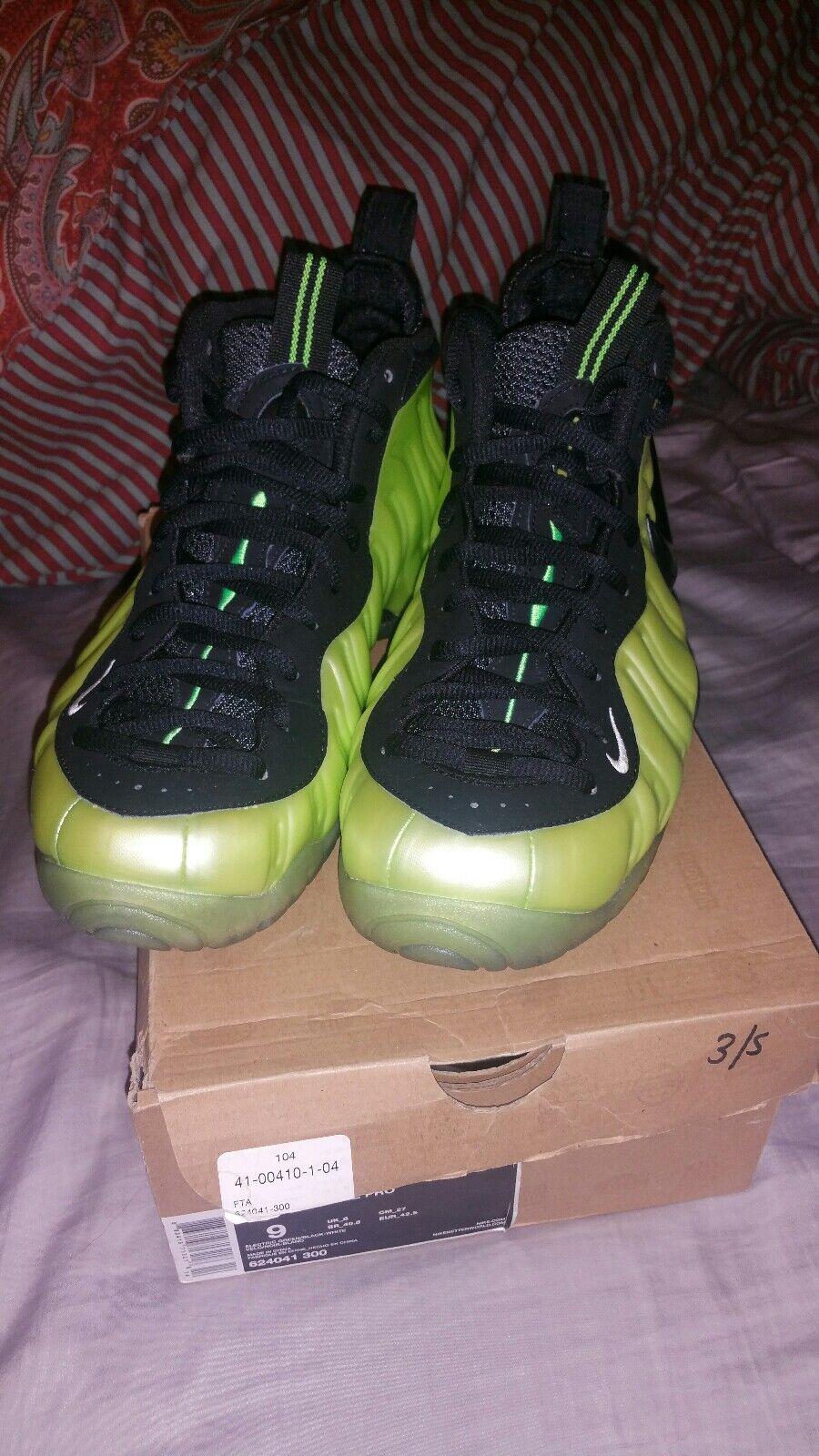 Nike air foamposite professionista elettrica verde taglia 9