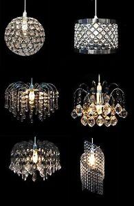 MODERN-CEILING-PENDANT-LIGHT-LAMP-SHADE-CHANDELIER-SHADES-ACRYLIC-CRYSTAL-DROP