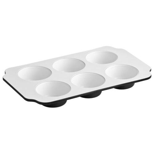 acero al carbono negro, revestimiento de cerámica Blanca Ecocook Muffin Bandeja