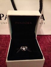Genuine Pandora Disney Mickey And Minnie Kiss Charm With Box & Bag!