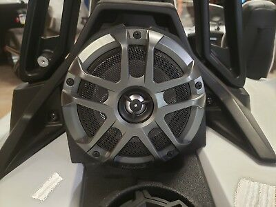SSV Works SS-B65U Polaris Slingshot Behind Seat Pods Pair for 6.5 Speakers Unloaded