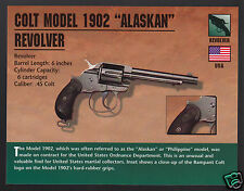 COLT MODEL 1902 ALASKAN REVOLVER .45 Hand Gun Classic Firearms PHOTO CARD