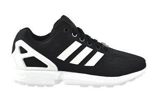 revendeur 86e13 114e3 Détails sur Adidas Zx Flux Em Noir Blanc Noir Chaussures Baskets Noir S76499