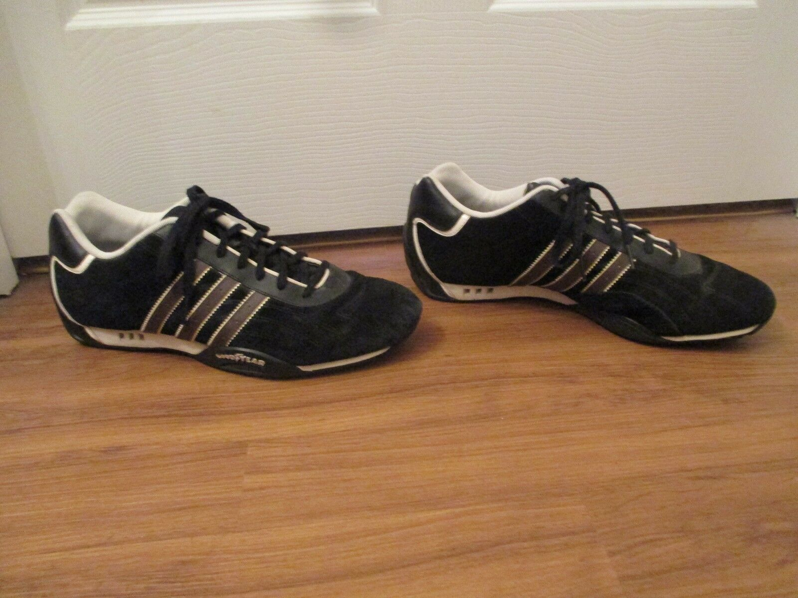 Classic 2005 Used Size 12 Adidas Goodyear Black Adi Racer Low Shoes Black Goodyear Brown White 5755e4
