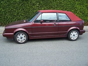 vw golf 1 cabrio verdeck stoff original aigner rot cabrioverdeck verdeckbezug a ebay. Black Bedroom Furniture Sets. Home Design Ideas
