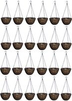 (24) Ea Panacea 12 Round Growers Series Hanging Basket Planter W Coco Liner