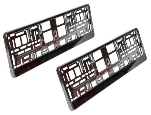 2 x Support de plaque d/'immatriculation Graphite Anthracite Dark Chrome Plaque Support voiture