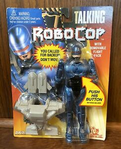 Talking-Robocop-Vintage-8-034-Action-Figure-w-Flight-Pack-New-MOC-1993-Toy-Island