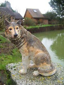 Mo0462 Grand Figurine Statuette Famille Loup Louve Animal Sauvage 23 Cm Qr5s8jdj-07224954-848578832