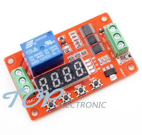 12V DC Multifunction Self-lock Relay PLC Cycle Delay Time Timer Switch Module