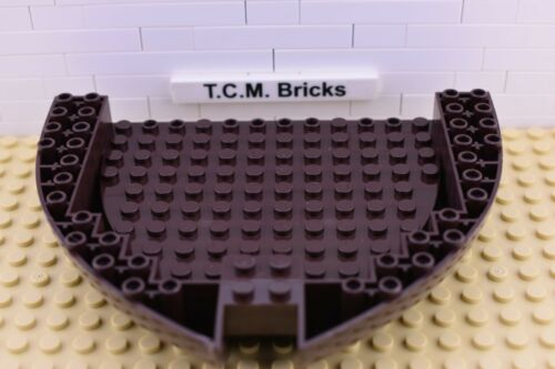 TCM Compatible Bricks QTY:  1 piece Dark Brown Boat Hull 16x13x2 Each