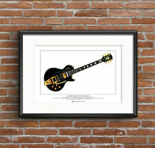 Jimmy Page's Gibson Les Paul Custom Limited Edition Fine Art Print A3 size