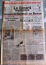 """Le Canard Enchainé 23/01/1985; Procès Le Pen contre """"Le canard""""; 1er Round"""