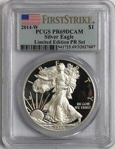 2014-W-American-Silver-Eagle-1-PCGS-PR69DCAM-F-S-Limited-Edition-PR-Set
