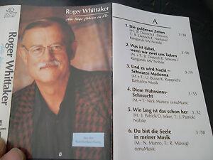 Roger Whittaker Alle Wege führen zu Dir und Sehnsucht nach Liebe, 2 MCs - Schmitten, Deutschland - Roger Whittaker Alle Wege führen zu Dir und Sehnsucht nach Liebe, 2 MCs - Schmitten, Deutschland