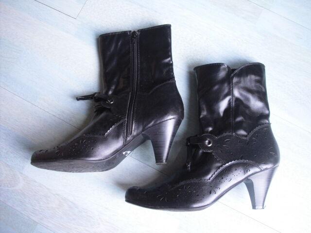 street ® Schwarze Damenstiefel Stiefeletten Stiefel Gr. Gr. Stiefel 41 Top Zustand 47fea5