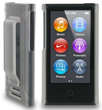 Clear Frost Hard Case Cover With Belt Clip Holster for Apple iPod Nano 7 7th Gen Generation