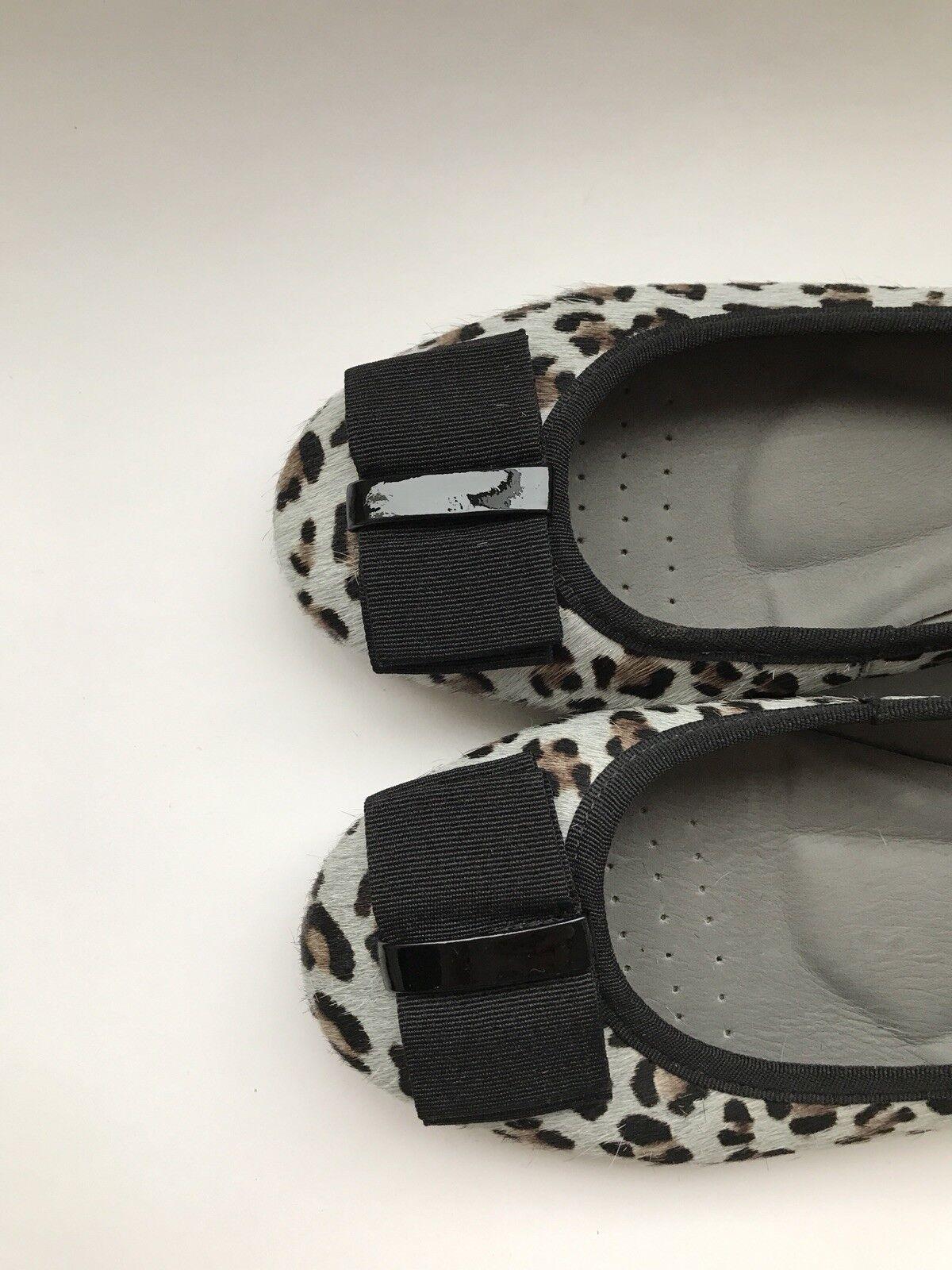 SchuheTherapy Leopard Ballet Pump, Horsehair, Größe 6UK= 39EUR, Blau and schwarz