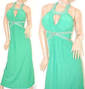 ABITO-LUNGO-donna-VERDE-vestito-cristalli-elegante-abito-da-sera-cerimonia-E15