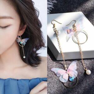 Asymmetric-Flower-Butterfly-Imitation-Pearl-Long-Earrings-Brincos-Statement-Wing