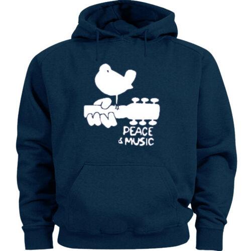 Woodstock sweatshirt hoodie blue men/'s peace and music hoodie sweat shirt