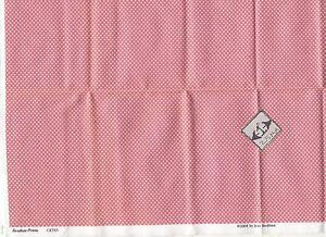 Fabric Brodnax Prints  FAC02 Craftsman dollhouse Silk fabric1//12 scale 1pc