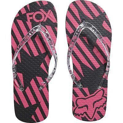 Fox Racing Niñas libertad Flip Flop Fresa Playa Plana Zapatos Sandalias Mx Nuevos