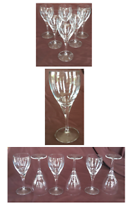 VINTAGE Bormioli Rocco Wine Glass Goblets FIORE 11 oz. Clear 6-Piece Set ITALY