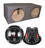 "NEW! (2) Boss P106DVC 10"" 4200W Car Subwoofers + Dual Vented Sub Box Enclosure"