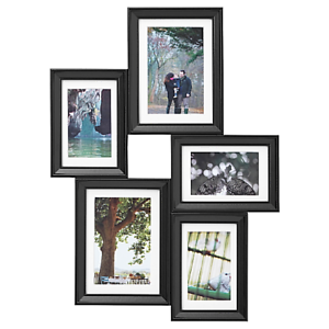 ikea knopp ng collage rahmen f r 5 fotos schwarz knoppang. Black Bedroom Furniture Sets. Home Design Ideas