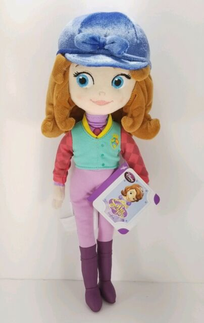 "Disney jr Store Plush Sofia the First Equestrian Doll 13"" Horse Rider New Sophia"