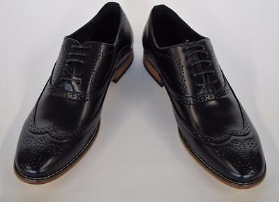 New Men/'s Fiesso Slip On Leather Dress Shoe Wing Tip Black Brown FI 3146