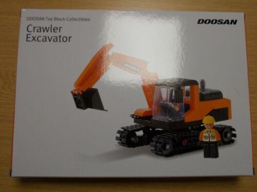 Conducteur-BA Doosan Toy Block Collectibles 308pc sur chenilles Excavatrice