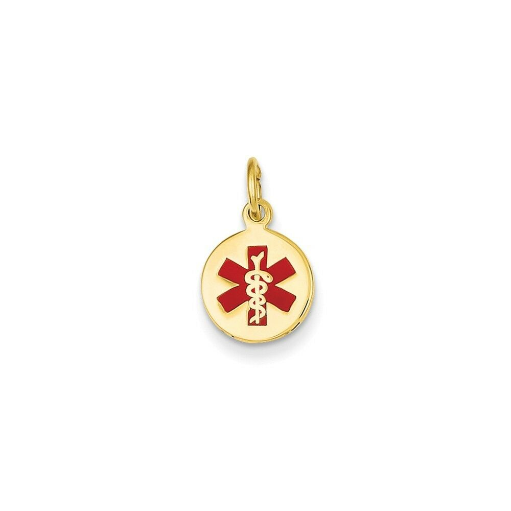 14kt Yellow gold Medical Jewelry Pendant Charm