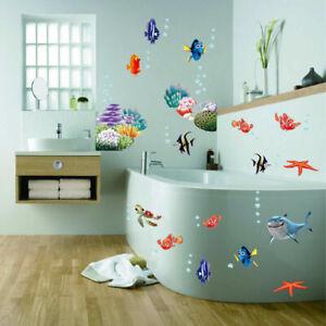 Finding Nemo Wall Stickers Colourful, Finding Nemo Bathroom Decor
