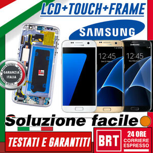 DISPLAY-LCD-TOUCH-SCREEN-FRAME-PER-SAMSUNG-GALAXY-S7-SM-G930F-G930-VETRO-SCHERMO