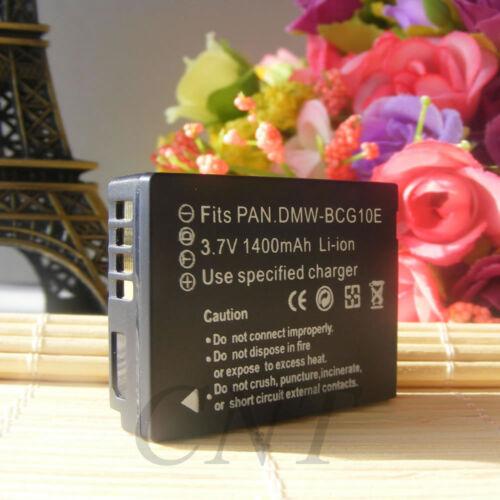 2x Batería para Panasonic Lumix DMW-BCG10 DMW-BCG10E DMC-ZS1 ZS3 ZS20 ZR1 ZX1