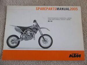 05 ktm 85 sx 85sx chassis engine motor spare parts manual book ebay rh ebay ie RM 85 2012 KTM 85