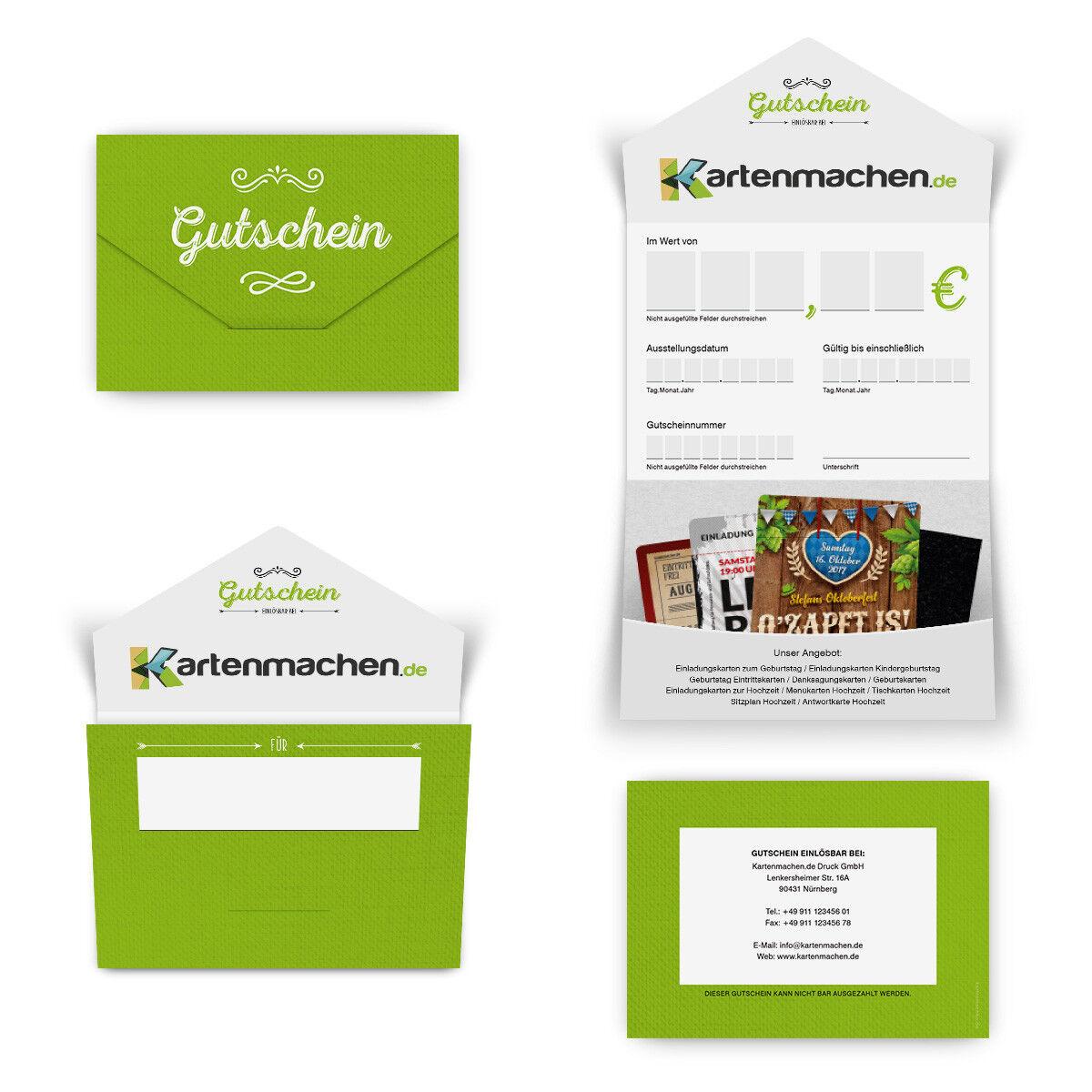 Firmen Geschenkgutschein Gutscheinkarte Gutschein individuell - Klassisch