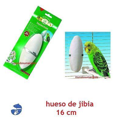 Hueso de Jibia con soporte 16 cm Calcio Pajaros Periquitos Canarios