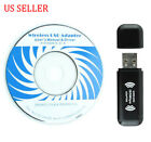 Wireless Internet USB Adapter WiFi Dongle 150Mbps for Windows 7 / XP / Vista US