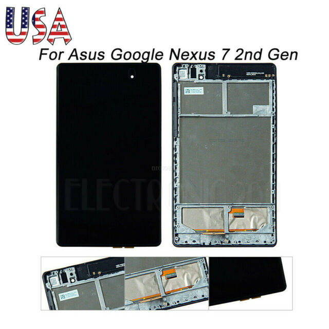 New Front Panel Touch Screen Digitizer Lens For 2013 Asus Google Nexus 7 2nd Gen