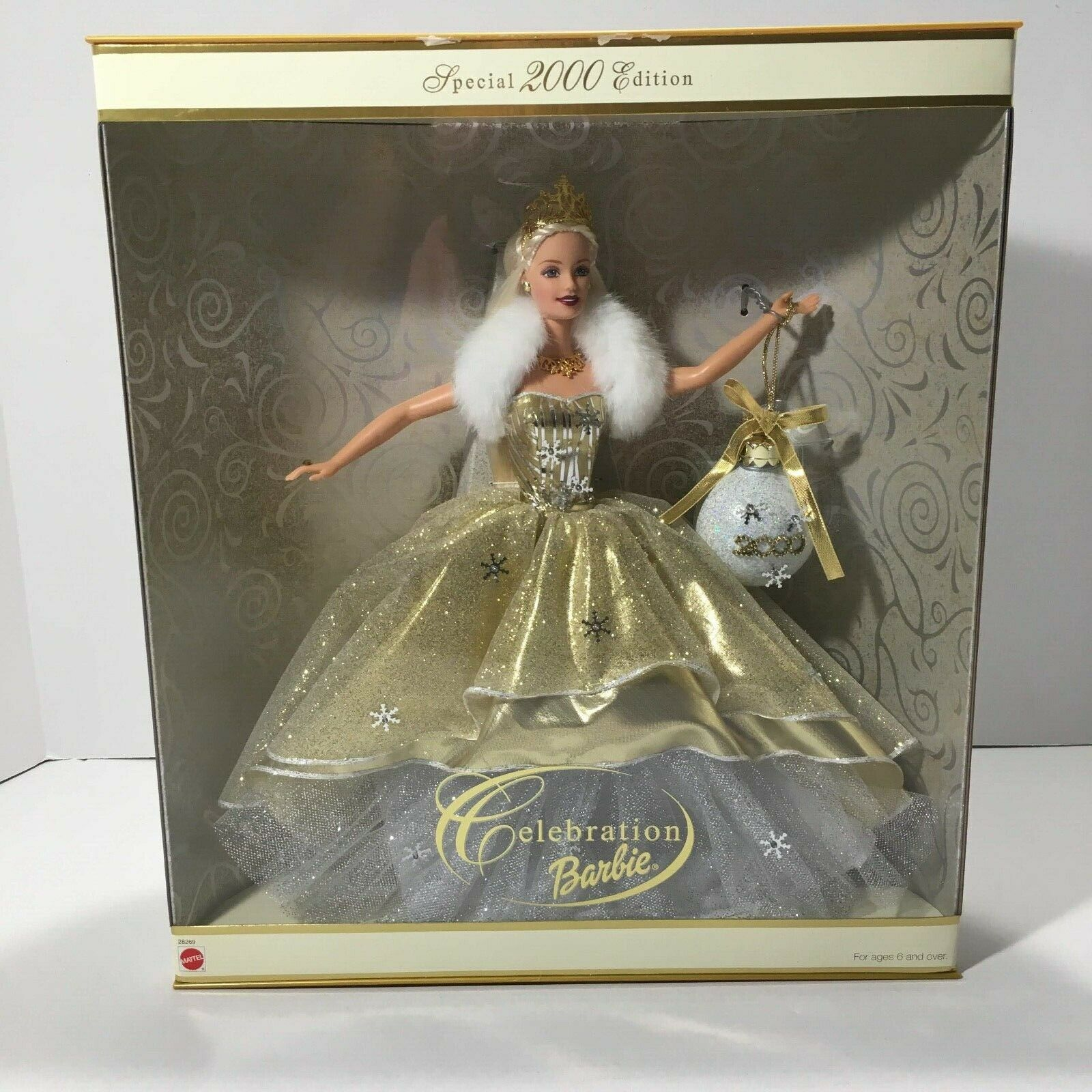 2000 Celebration Barbie Doll Special Edition 28269 Christmas Holiday Mattel